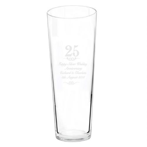 Personalised 25 years Conical Vase